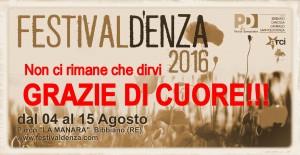 Festivaldenza 2016 fondo giallo papaveri GRAZIE